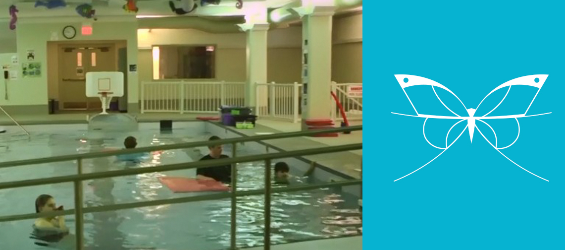 Monarch students with Autism Spectrum Disorder in adaptive swimming lessons